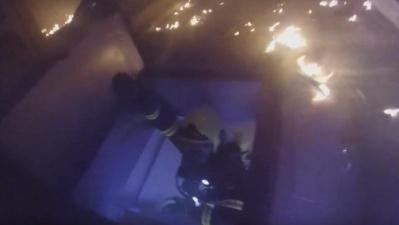 при пожаре в жилом доме в Нарве эвакуировали девять человек