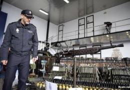 Внушительный подпольный склад нелегального оружия в Испании