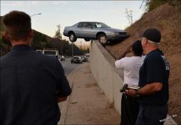 Необычное ДТП в Лос-Анжелесе