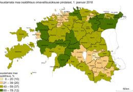 Больше половины территории Эстонии остается незаселенной