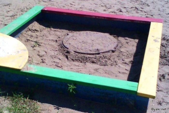 Тайный проход к черепашкам-ниндзя в детской песочнице