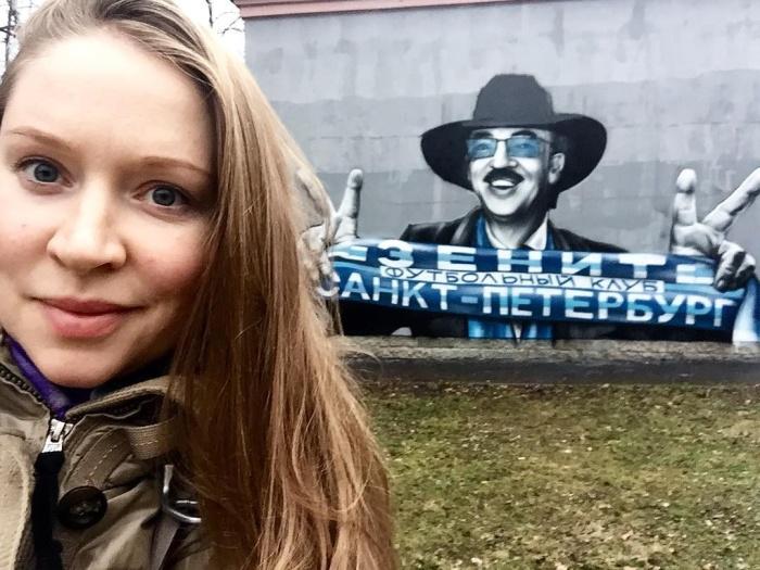 В Петербурге уличные художники нарисовали граффити с Боярским, болеющим за «Зенит»