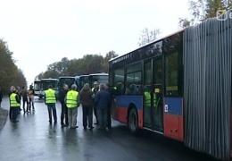 Водители фирмы Go Bus провели предупредительную забастовку с требованием повысить зарплаты