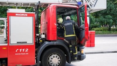 В Нарве горело общежитие на улице Энергия