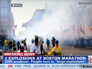 Двойной взрыв у финишной черты Бостонского марафона: есть погибшие и пострадавшие
