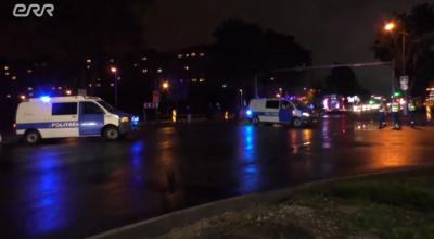 ВИДЕО: в Нарве загорелся автомобиль с детьми