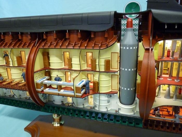 Модель атомной подводной лодки 667А