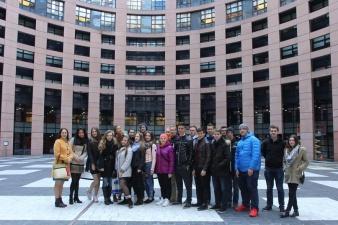 Юные эстонские парламентеры в Страсбурге