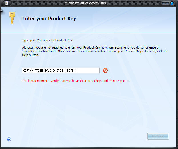 Valid product key for microsoft office 2007 enterprise edition.
